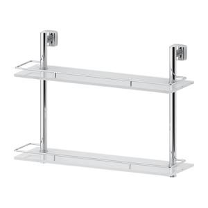 Santech Allianz Esperado - ESP 064 - Dvoupatrová polička s ohrádkou 50 cm (sklo)
