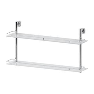 Santech Allianz Esperado - ESP 066 - Dvoupatrová polička s ohrádkou 70 cm (sklo)