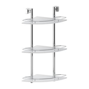 Santech Allianz Esperado - ESP 073 - Rohová třípatrová polička s ohrádkou 28 cm (sklo)