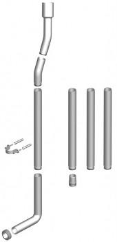 Souprava trubek T-2454/IV k vysokopoložené WC nádržce T-2454