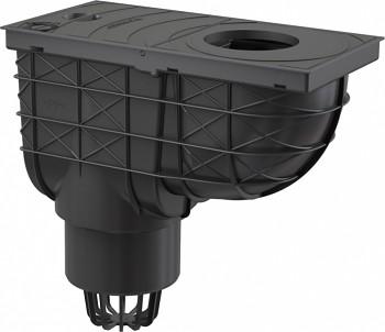 Alcaplast AGV1 - Univerzální lapač střešních splavenin - přímý černý