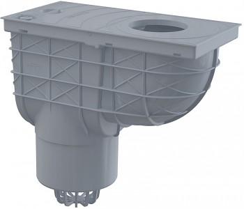 Alcaplast AGV2S - Univerzální lapač střešních splavenin - přímý šedý