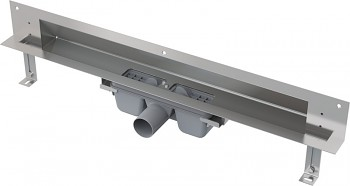 Alcaplast APZ5-SHADE-650 - SPA-Odtokový systém pro zabudování do stěny (nerez mat)