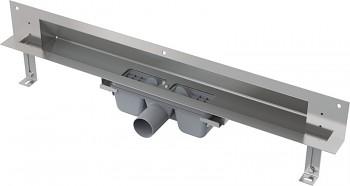 Alcaplast APZ5-TWIN-750 - SPA-Odtokový systém pro zabudování do stěny (nerez rošt pro vložení dlažby)