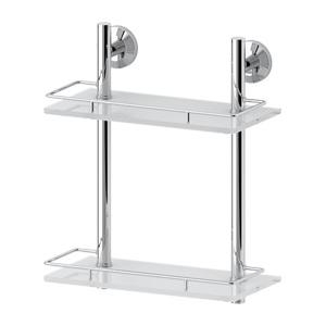 Santech Allianz Standard - STA 062 - Dvoupatrová polička s ohrádkou 30 cm (sklo)
