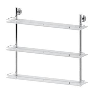 Santech Allianz Standard - STA 071 - Třípatrová polička s ohrádkou 70 cm (sklo)