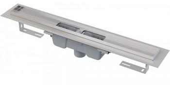 Alcaplast APZ1001-650 - Podlahový žlab s okrajem pro perforovaný rošt, svislý odtok
