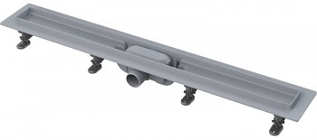 Alcaplast APZ8-650M (Alcaplast APZ8-650) - Simple - Podlahový žlab plastový s okrajem pro perforovaný rošt, včetně roštu