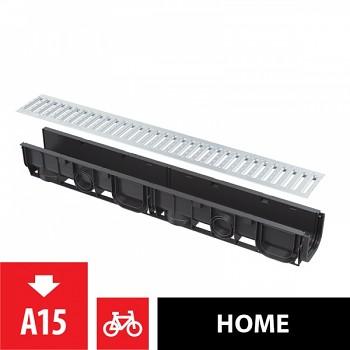"""Alcaplast AVZ101-R101 - Venkovní žlab 100 mm bez rámu s pozinkovaným roštem """"T"""" profilu"""