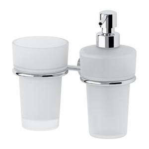 Santech Allianz Vizovice - VIZ 008 - Držák skleničky a dávkovače mýdla (sklo)