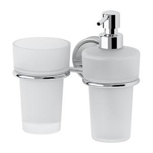 Santech Allianz Ellea - ELL 008 - Držák skleničky a dávkovače mýdla (sklo)