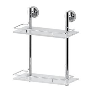 Santech Allianz Ellea - ELL 062 - Dvoupatrová polička s ohrádkou 30 cm (sklo)