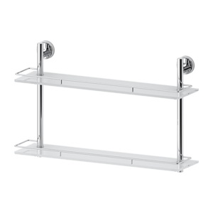 Santech Allianz Ellea - ELL 065 - Dvoupatrová polička s ohrádkou 60 cm (sklo)