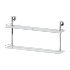 Santech Allianz Ellea - ELL 066 - Dvoupatrová polička s ohrádkou 70 cm (sklo)