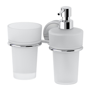 Santech Allianz Luxia - LUX 008 - Držák skleničky a dávkovače mýdla (sklo)
