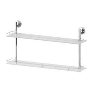 Santech Allianz Luxia - LUX 066 - Dvoupatrová polička s ohrádkou 70 cm (sklo)
