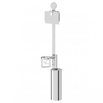 Santech Allianz Harmonie - HAR 055 - WC souprava s toaletní štětkou v kovovém tubusu