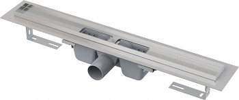 Alcaplast APZ1-1450 - Podlahový žlab s okrajem pro perforovaný rošt