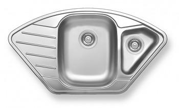 Novaservis DR50/92  - Dřez nerez 1+1/2 s odkapem a přepadem, 50x92