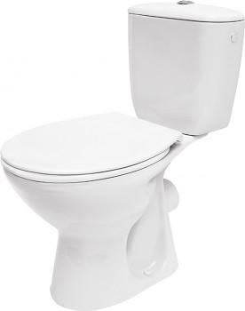Cersanit WC kombi Kompakt K010 - vodorovný odpad, boční přívod vody, 3/6 l, sedátko