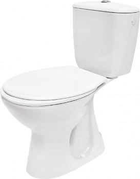Cersanit WC kombi Kompakt K020 - svislý odpad, boční přívod vody, 3/6 l, sedátko