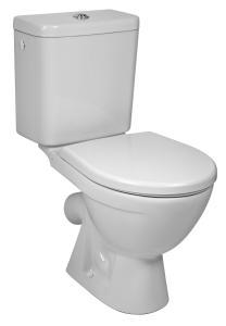 Jika Lyra Plus - Kombi WC, šikmý odpad, hluboké splachování, boční napouštění