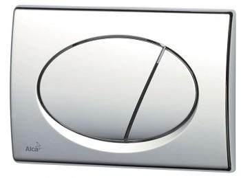 Alcaplast Alcatlačítko M71 - Ovládací tlačítko pro předstěnové instalační systémy chrom-lesk