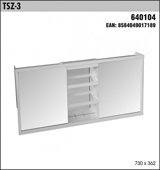 Toaletní skříňka SLOVPLAST TSZ-3