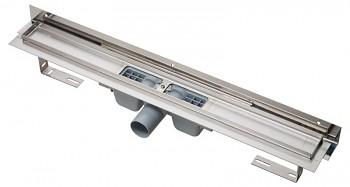 Alcaplast APZ4-650 - Flexible - Podlahový žlab s okrajem pro perforovaný rošt a s nastavitelným límcem ke stěně
