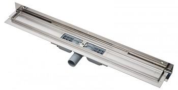 Alcaplast APZ104-850 - Flexible Low - Podlahový žlab s okrajem pro perforovaný rošt a s nastavitelným límcem ke stěně