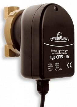 Weberman Ferro W0101 - CP 15-1.5 + DOPRAVA ZDARMA - Oběhové čerpadlo pro teplou pitnou vodu